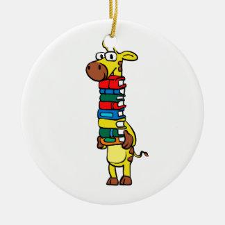 Ornamento De Cerâmica Girafa que guardara livros