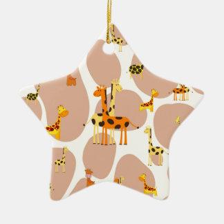 Ornamento De Cerâmica Girafas