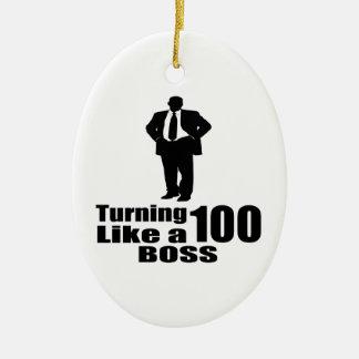 Ornamento De Cerâmica Girando 100 como um chefe