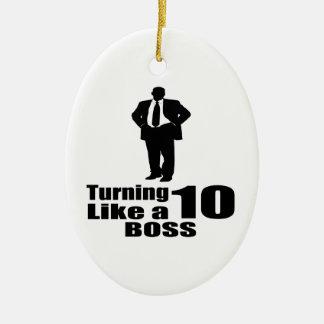 Ornamento De Cerâmica Girando 10 como um chefe