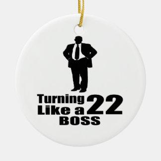 Ornamento De Cerâmica Girando 22 como um chefe