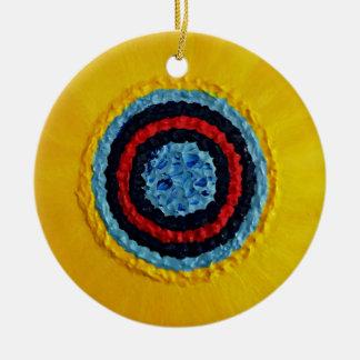 Ornamento De Cerâmica Girassol de Matthew da equipe para o autismo