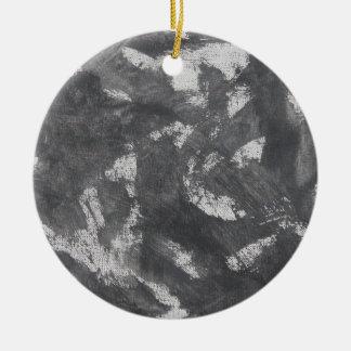 Ornamento De Cerâmica Giz e de tinta preta brancos