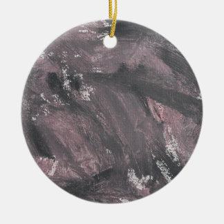 Ornamento De Cerâmica Giz e de tinta preta vermelhos