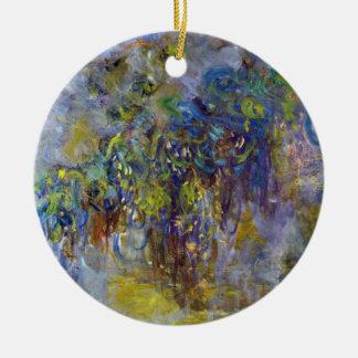 Ornamento De Cerâmica Glicínias por Claude Monet, impressionismo do