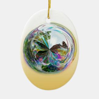 Ornamento De Cerâmica Globo das bolhas