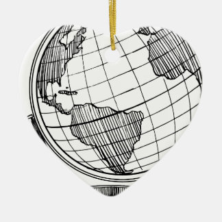 Ornamento De Cerâmica Globo do mundo