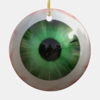 Ornamento De Cerâmica Globo ocular verde assustador