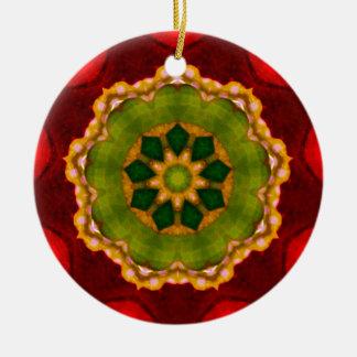 Ornamento De Cerâmica Glória vermelha do Natal