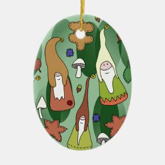 Ornamento De Cerâmica Gnomos da floresta