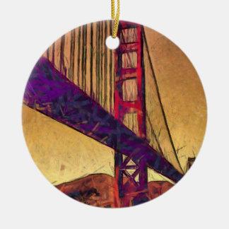 Ornamento De Cerâmica Golden gate bridge
