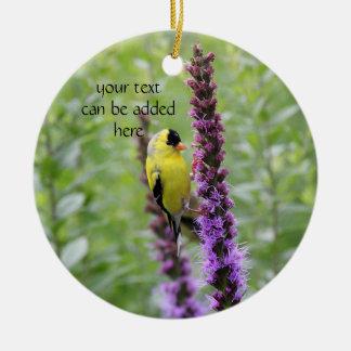 Ornamento De Cerâmica Goldfinch
