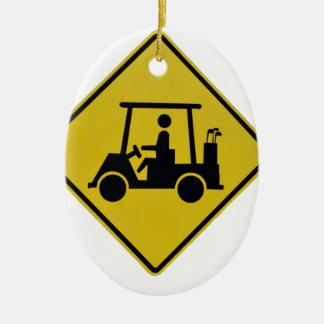 Ornamento De Cerâmica golfe-cruzamento-sinal