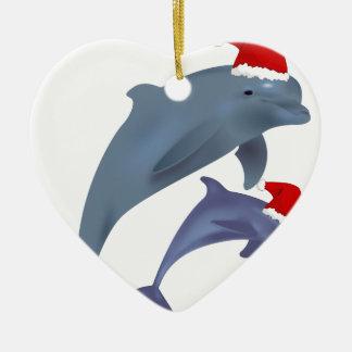 Ornamento De Cerâmica Golfinho do Natal