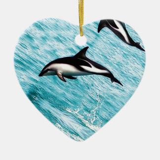 Ornamento De Cerâmica Golfinhos