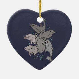 Ornamento De Cerâmica Golfinhos brincalhão