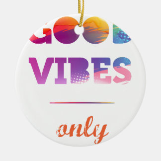 Ornamento De Cerâmica Good Vibes Only
