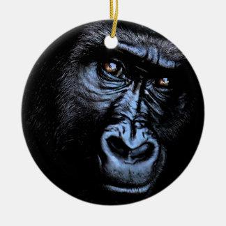 Ornamento De Cerâmica Gorila