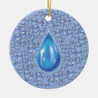 Ornamento De Cerâmica gota da água