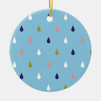 Ornamento De Cerâmica Gotas felizes da chuva
