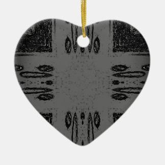 Ornamento De Cerâmica Gótico preto cinzento Center customizável