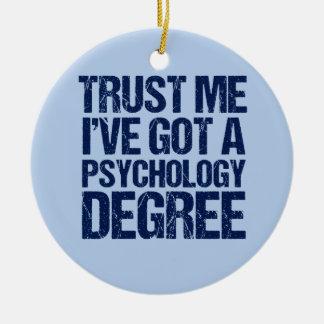Ornamento De Cerâmica Graduação engraçada da psicologia