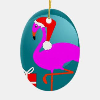 Ornamento De Cerâmica Gráfico na moda bonito do flamingo cor-de-rosa do