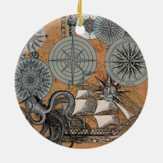 Ornamento De Cerâmica Gráfico náutico do impressão da arte da navigação