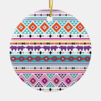 Ornamento De Cerâmica Gráfico tribal asteca do teste padrão dos