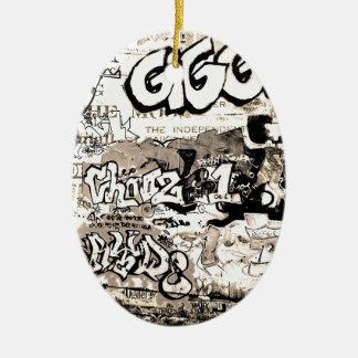 Ornamento De Cerâmica Grafites