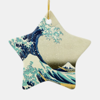 Ornamento De Cerâmica Grande onda fora de Kanagawa
