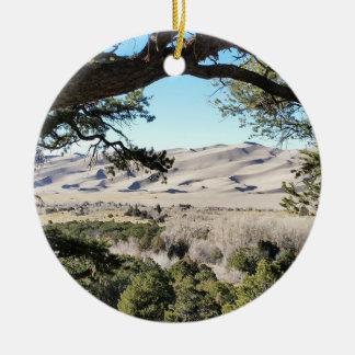 Ornamento De Cerâmica Grande parque nacional de dunas de areia