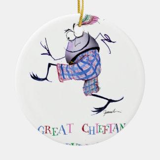 Ornamento De Cerâmica grande puddin-raça chieftan do o'the