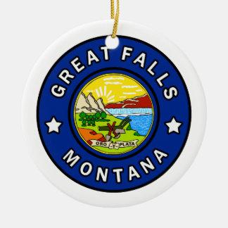 Ornamento De Cerâmica Great Falls Montana