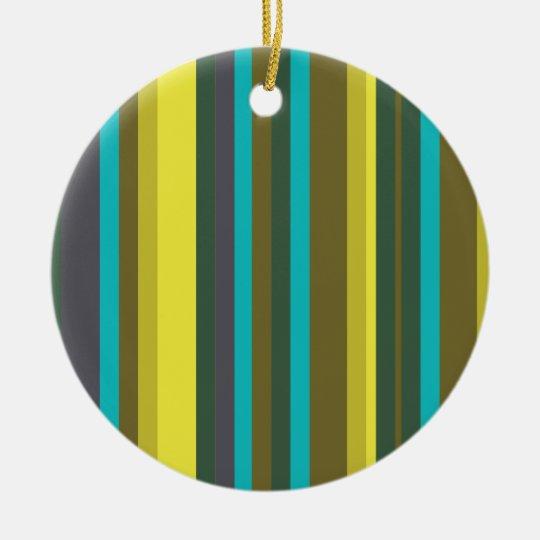 Ornamento De Cerâmica Green_stripes