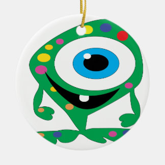 Ornamento De Cerâmica Greendot-Monstro