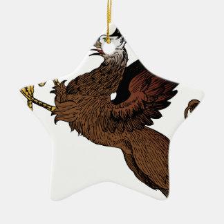 Ornamento De Cerâmica Grifo