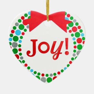 Ornamento De Cerâmica Grinalda da alegria