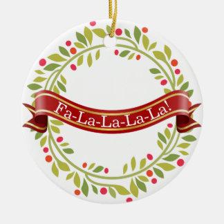 Ornamento De Cerâmica Grinalda Tis do Natal a estação