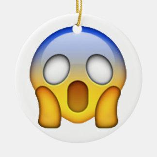 Ornamento De Cerâmica Gritar - Emoji