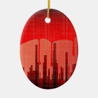 Ornamento De Cerâmica Grunge da cidade do sangue