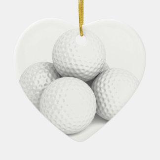 Ornamento De Cerâmica Grupo de bolas de golfe