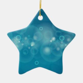 Ornamento De Cerâmica Grupo de bolhas bonitos que fluem no fundo azul