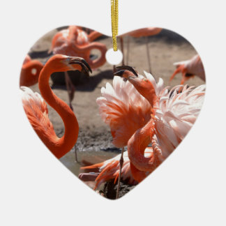 Ornamento De Cerâmica Grupo de flamingos de Cuba