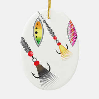 Ornamento De Cerâmica Grupo de giradores que pescam a ilustração do