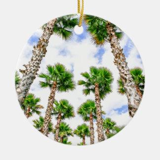 Ornamento De Cerâmica Grupo de palmeiras retas altas