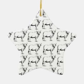 Ornamento De Cerâmica grupo de touros maus