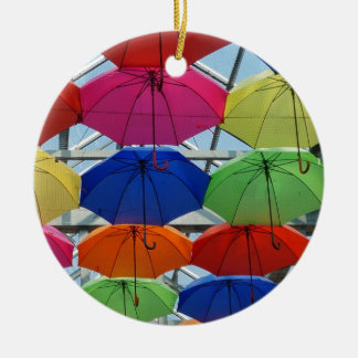 Ornamento De Cerâmica guarda-chuva colorido