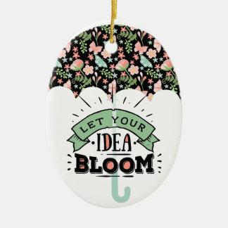 Ornamento De Cerâmica Guarda-chuva da flor da ideia