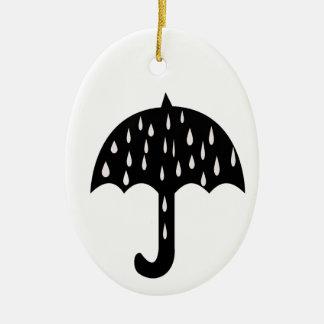 Ornamento De Cerâmica Guarda-chuva e chover